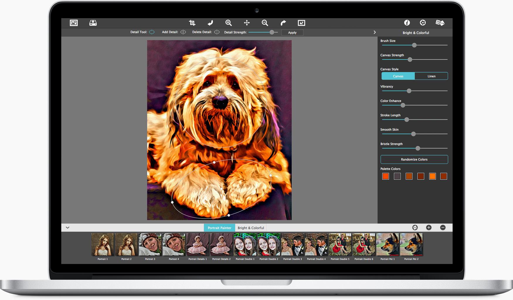 Portrait Painter—Artistic Painting Software