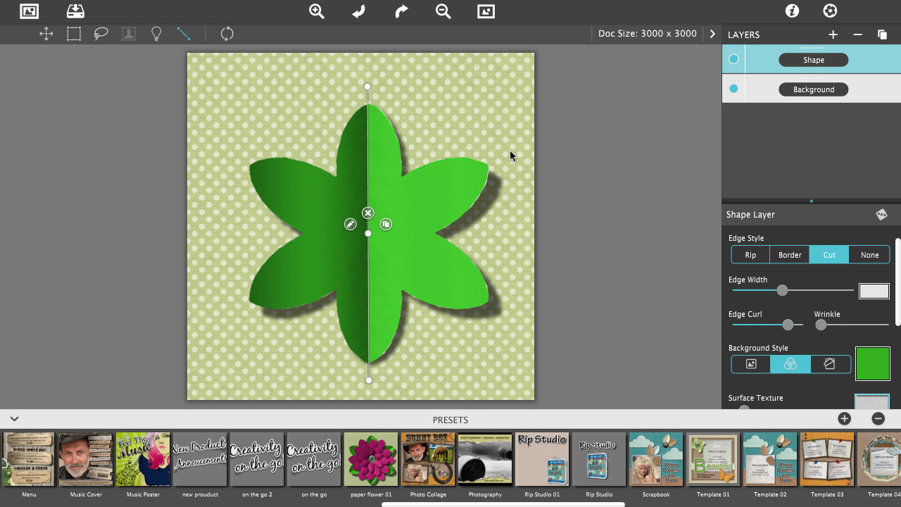 Click On The Edit Button Found On The Vertical Line Rip Studio Create A  Paper Flower