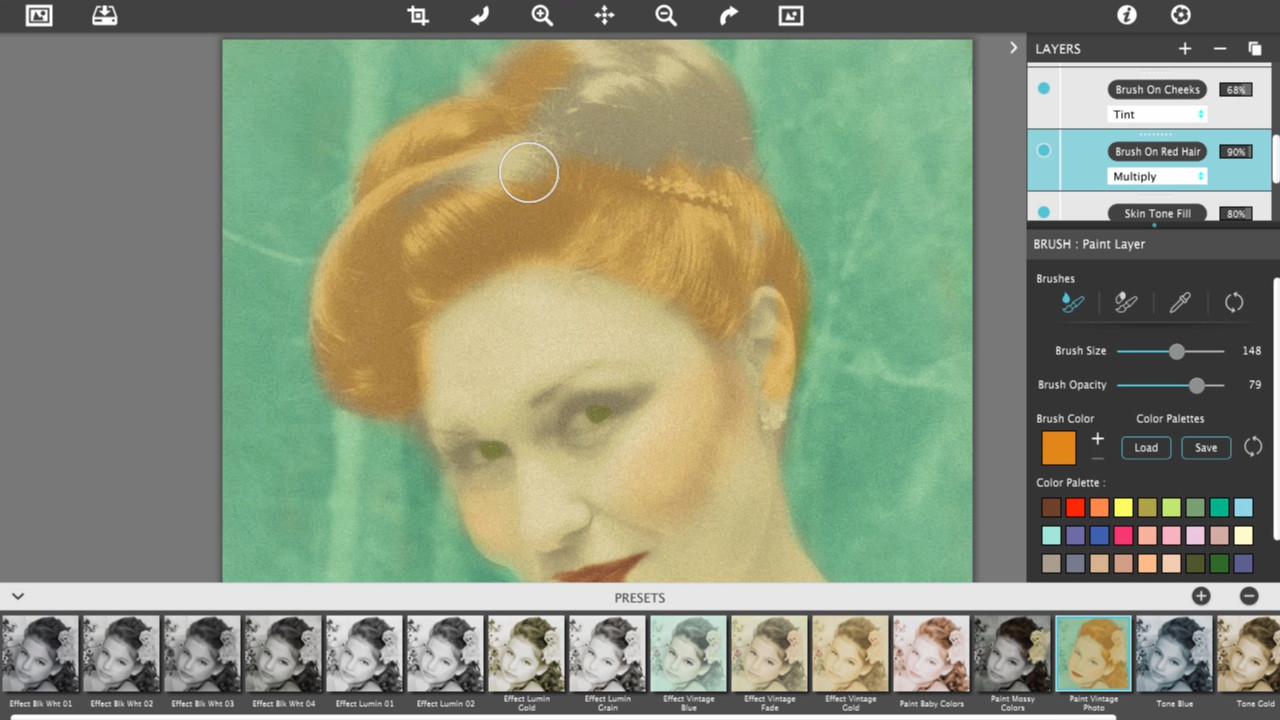 Hand Tint Pro Vintage Photo Tutorial